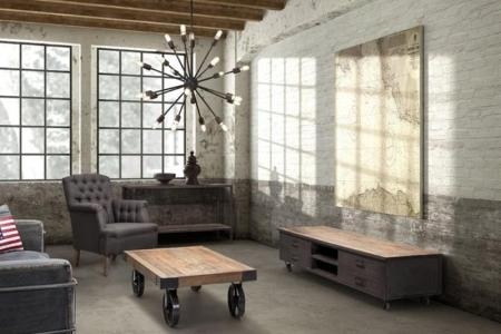 amazing industrial living room