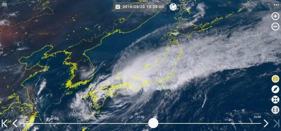 台風16号 現在の画像