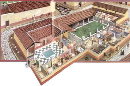 reconstruction of a roman villa