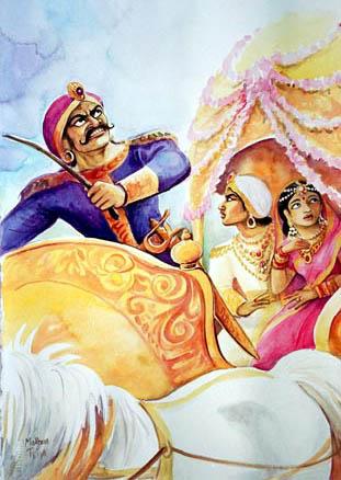 Akashvani of Kans death - Devaki Vasudev wedding