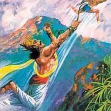 Bali ties Ravana in his tail