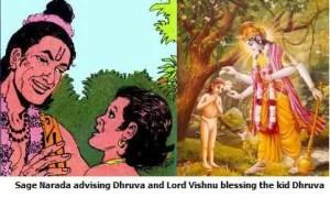 Dhruva, Narada and Lord Vishnu