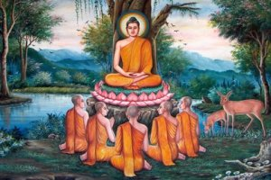 Buddha and his disciples