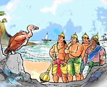 Sampati guiding monkeys