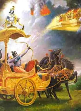 Shiva destroying Tripurasura