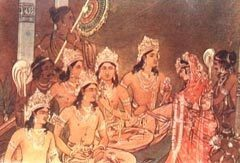 Pandavas marry Draupadi