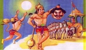 Hanumana kills Demons