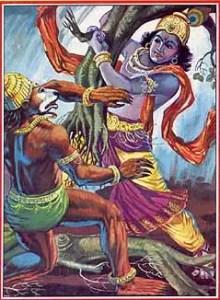 Lord Krishna and Jambavant
