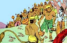 Rama startegises with his commanders
