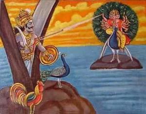 Killing of Demon by Lord Subramanya