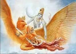 Garud and Lord Vishnu