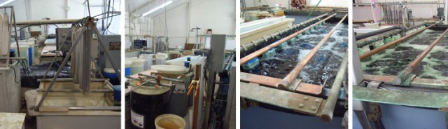 Queen City Plating's massive and complex water filtration system which recycles all of the water used in the many steps in plating