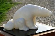 Sculpture de maternité - ourse - ourson de Dominique Rivaux