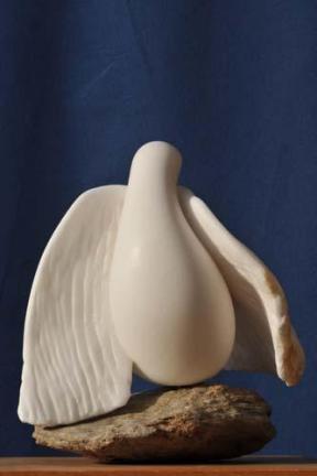 oiseau colombe - sculpture en albâtre