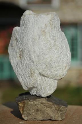 sculpture de chouette, hibou, oiseau de Dominique Rivaux