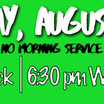 Potluck and Evening Service – August 27th
