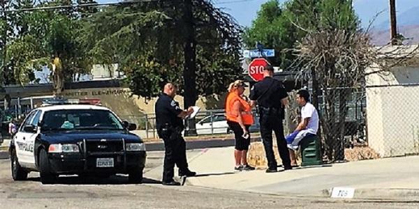 Crossing guard struck by car in front of Whittier Elementary
