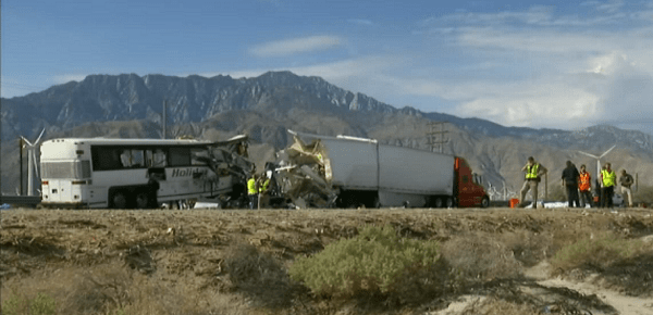 At least 13 passengers were killed and more than 30 victims were injured in a bus accident on the 10 Freeway Sunday, Oct. 23.