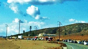 Traffic quickly backed up after the head on wreck. Amanda Pearl photo