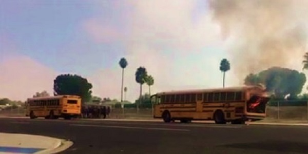 HEMET: 26 Students safely evacuated after HUSD bus catches fire