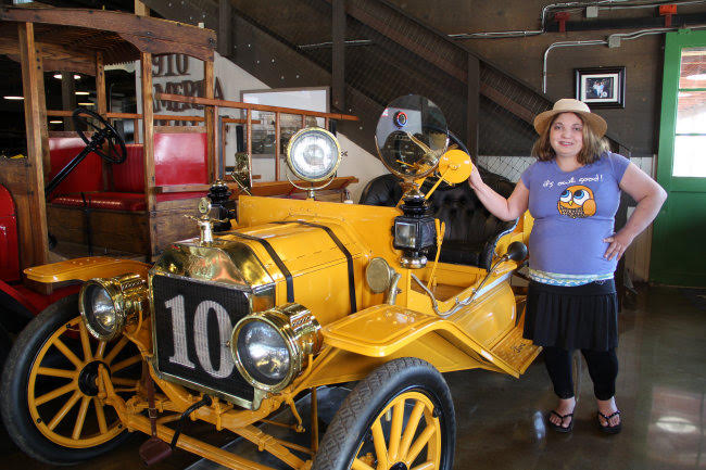 Sara got to learn about a variety of different cars, all lovingly restored by the Motte family over the years.