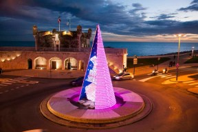 Des illuminations de Noël interactives à Menton