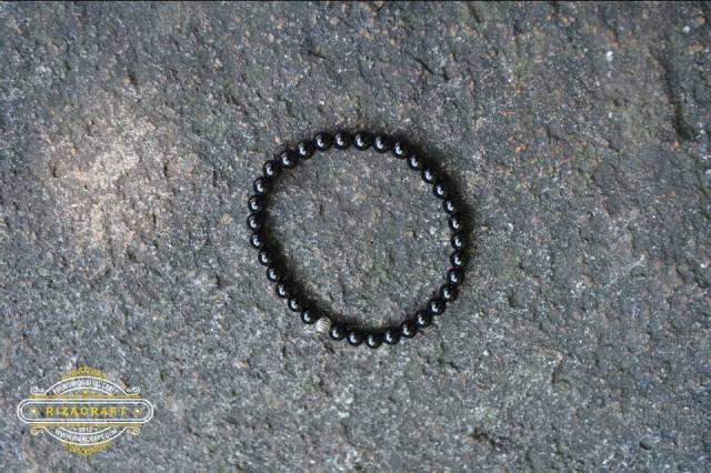 gelang batu black onyx