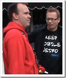Petere Vesterbacka of Angry Birds and Tero Ojanpera of Nokia