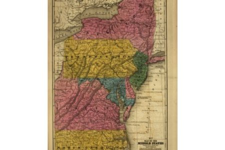 1839 map of the middle united states (back then) poster