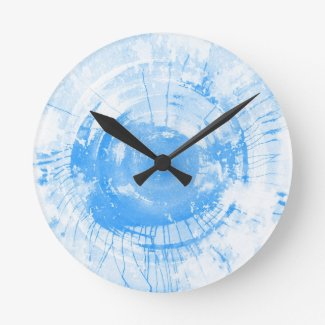 Abstract blue watercolor background, texture. round wall clocks