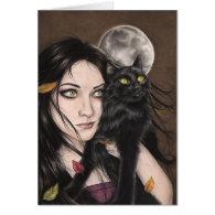 An Autumn Halloween Night Greeting Card