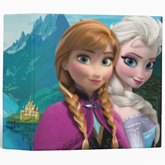 Anna and Elsa 3 Ring Binder