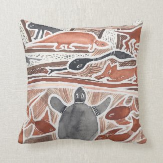 Australian Dreams #2 Throw Pillows