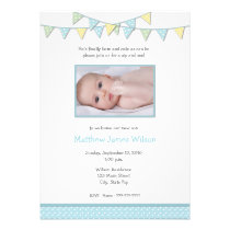 Baby Boy Photo Sip And See Invitation