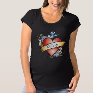 Baby Heart Tattoo Maternity T-Shirt