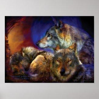 Beneath A Blue Moon Art Poster/Print