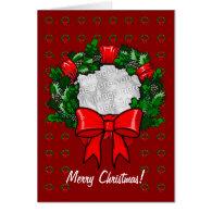 Card Template - Christmas Wreath