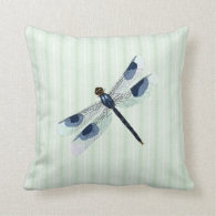 Chic Dragonfly Throw Pillow