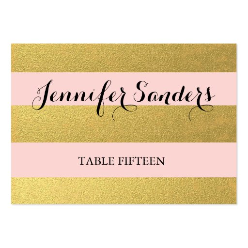 CHIC GOLD | PINK WEDDING PLACE CARDS LARGE BUSINESS CARD