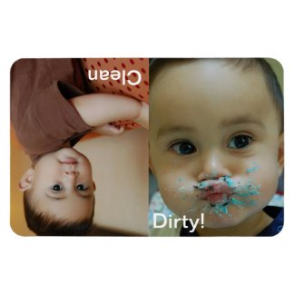 Clean Dirty Dishwasher Personalized Photo Magnet