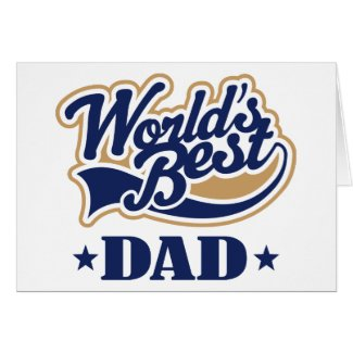 Cool World's Best Dad Gift Greeting Card