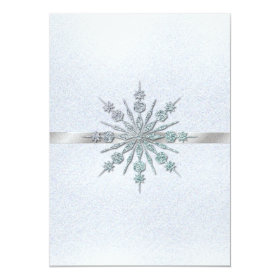 Crystal Snowflakes Winter Wedding Invitation