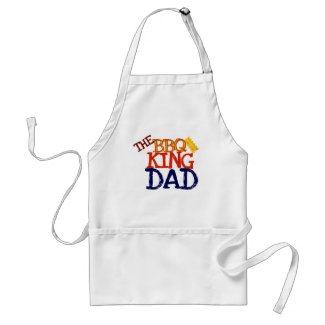 Dad the BBQ King Aprons