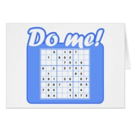 Anytime Sudoku Greeting Card
