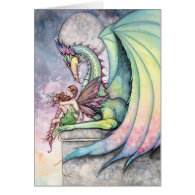 Dragon Fairy Card by Molly Harrison