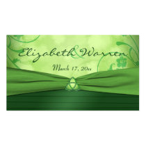 Emerald Green Celtic Love Knot Wedding Favor Tag Business Card
