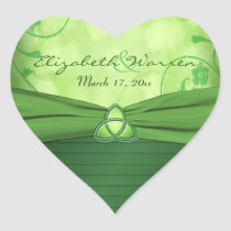 Emerald Green Celtic Love knot Wedding Sticker
