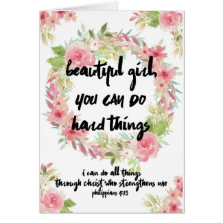 Encouragement Card Pink Roses With Scripture