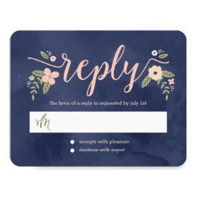 Floral Beauty Editable Color Wedding Response Card