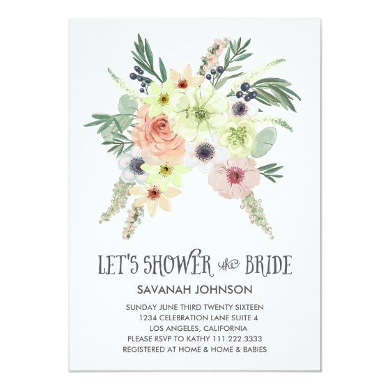 Floral Bouquet | Let's Shower the Bride | Bridal Card